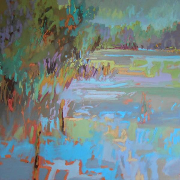 JANE SCHMIDT'S LANDSCAPES DEMAND YOUR ATTENTION WITH HER USE OF COLOR AND TEXTURE!